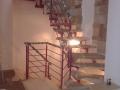 Scara metalica - trepte din lemn