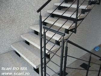 scari cu trepte din granit